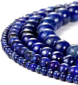 30Pcs Wholesale Lots Natural Gemstone Lapis Lazuli Round Spacer Loose Beads 6MM
