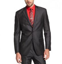 Alfani Red Men's Slim Fit 42/Long Shiny Charcoal Herringbone Sportcoat Blazer