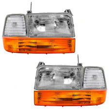 92-96 Bronco 92-97 Ford Pickup 6 Pc Set Headlight w/ Side Marker & Corner Lamps