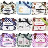 Nappy Changing Bag Baby Diaper Bags, Insulated Pockets, Key Strap - NEW DESIGNS