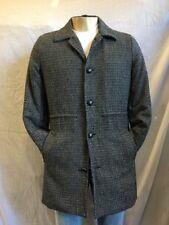 NWT CARAPACE Mens Trench Coat / Blazer Black/Grey Size:Medium
