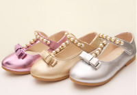 New Girls  Party Dress Sandals Kid Flat Heels Shoes Summer Princess Pearl Shoes