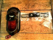 BEEHIVE TAILLIGHT BLACK HARLEY Panhead Knucklehead Chopper Bobber 12v Hot Rod