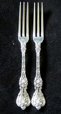 2 ANTIQUE WHITING STERLING SILVER KING EDWARD STRAWBERRY FORKS EX-COND.