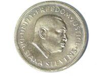 1974 Sierra Leone 10th Anniversary Freedom Siaka Stevens One Leone Coin #M29