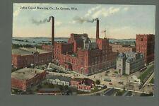 La Crosse WISCONSIN c1910 JOHN GUND BREWING COMPANY Brewery PEERLESS BEER