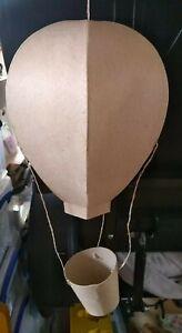 PAPIER MACHE HANGING HOT AIR BALLOON BLANK crafts Etc 18x18x37cm