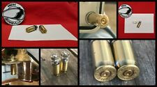 Spent .45 Caliber Bullet Shell Casing Motorcycle License Plate Bolts Fasteners