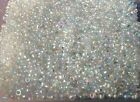 400+ Clear Rainbow Pearl Seed Hard Plastic Beads On Fishing Line.1-3mm Size