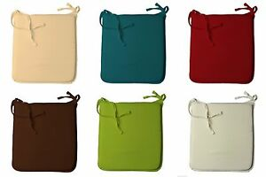 2x Seat Pads Polycotton Cover with Foam inside Comfortable Colourful