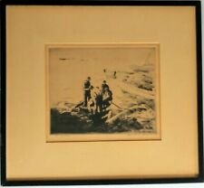 George Elmer Browne Original Etching, SIGNED, The Bailers Famous Artist 1930s