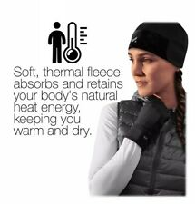 Mission Radiantactive Women's Black Beanie S/M One Size Fits Most