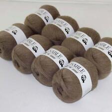 8Ballsx50g Pure Sable Cashmere Hand Knitwear Wool Shawls Soft Crochet Yarn 11