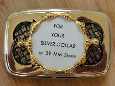 0833 Pkg 3 Smaller Flat T Belt Buckle Hamilton Gold Plated make your own