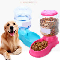 Large Automatic Pet Food Drink Dispenser For Dog Cat Feeder Water Bowl Dish EG