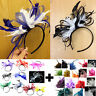 Bespoke Feather Hair Fascinator Headband Wedding and Royal Ascot Races Ladies