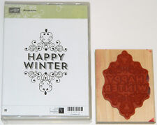 "Stampin Up! Wintertime Set of 1 *Nr Mint* ""Happy Winter"""