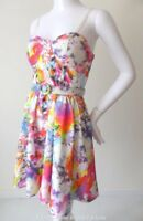 MAXIM  Dress Sleeveless Floral Fit and Flare with Belt NEW Size Small