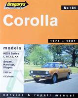 Toyota Corolla KE55 1978-1981 Repair Manual