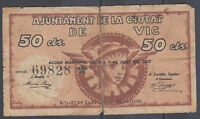 Banknotes Local - Vic - 50 Cts. Year 1937 - Without Series