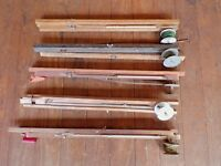 Lot of Vintage Ice Fishing Fish Tip Ups Ice Winter Cabin Cottage Lake House Deco