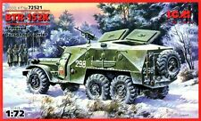 BTR 152 K APC & AMBULANCE (SOVIET, GERMAN, POLISH & EGYPTIAN MARKINGS) 1/72 ICM