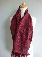 Tootal vintage dark red paisley men's evening scarf.