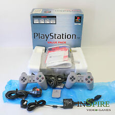 Coffret-Original fat gris SONY PS1 PLAYSTATION PSONE Console-SCPH - 5552-Comme neuf