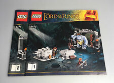 LEGO The Mines of Moria LOTR Instruction Booklets Set 9473 NEW 2 Books