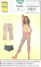 Pattern Burda Sewing Woman Hip Hugger Pants Shorts NEW