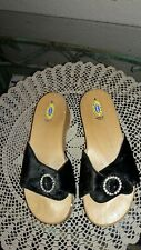 Dr Scholls The Original Wood Exercise Sandal Leather/Sued Made In Italy Slides 6