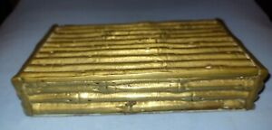 Maison Bagues Bamboo Gilt Bronze Box 7 1/4 in (18 cm)