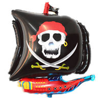 Cartoon Halloween Pirate Boat Foil Balloons Inflatable Kids Toys Party Favors v-