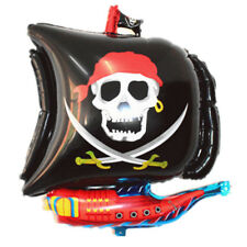 Cartoon Halloween Pirate Boat Foil Balloons Inflatable Kids Toys Party Favors OF