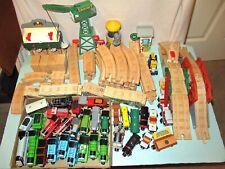 Lot Thomas & Friends Wood Parts Train Track Sodor Knapford Bridge Cranky Crane