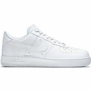Nike Air Force 1' 07 Herrenschuhe Turnschuhe Leder Sneakers Weiß 315122 111 SALE