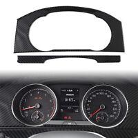 Carbon Fiber Interior Dashboard Panel Decor Trim Cover For 2014-2019 VW Golf MK7
