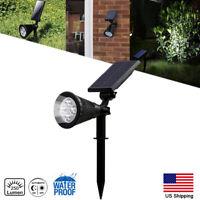 Solar Power Spot Light Outdoor LED Garden Lawn Landscape Path Wall Lamp IP65 US