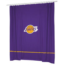 Los Angeles LA Lakers Jersey Mesh Fabric Shower Curtain