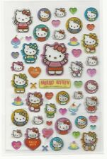 Sanrio Hello Kitty Stickers Hard Plastic Glitter Irredescent Cheer