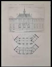 GRAULHET, MAIRIE - 1900- PLANCHE ARCHITECTURE - ALBERT MELISSENT