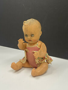 """Vintage Creepy & Haunted Baby Doll 11"""" Tall Antique Gothic Oddity Halloween"""