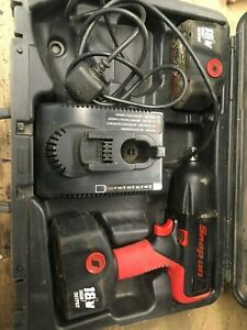 SNAP ON IMPACT GUN CTG850 18V 2 BATTERIES CHARGER AND CASE