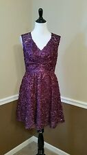 NWT Decode $170 Purple Sequin Formal Dress Sz 6 Modcloth Twinkling at Twilight