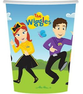 The Wiggles Party Supplies - Paper Party Cups - Pack of 8 - 266ml (CT)