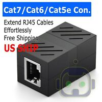 RJ45 Inline Coupler Cat7/Cat6/Cat5e Ethernet Network Cable Extender Connector