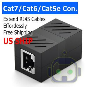 RJ45 Inline Coupler Cat7/Cat6/Cat5e Ethernet Network Cable Extender Connector