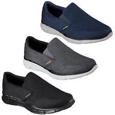Skechers Equalizer Double Play Trainers Memory Foam Knit Mesh Slip On Mens Shoes
