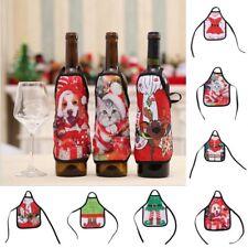 Christmas Santa Mini Apron Wine Bottle Cover Bags Dinner Table Random Style 1 PC