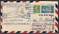 1935 Wiley Post transcontinent stratospheric Airmail flight, California to NY (C